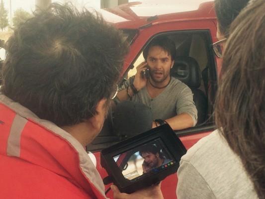 """José María del Castillo en el rodaje de """"Entreolivos"""""""
