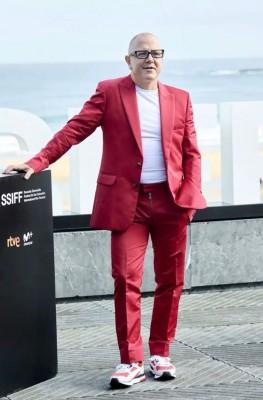 Actor Óscar de la Fuente en el Festival de San Sebastián