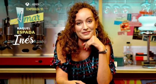 Imagen promocional de Amar es para siempre con actriz Raquel Espada