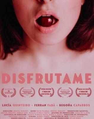 Cartel del cortometraje Disfrútame